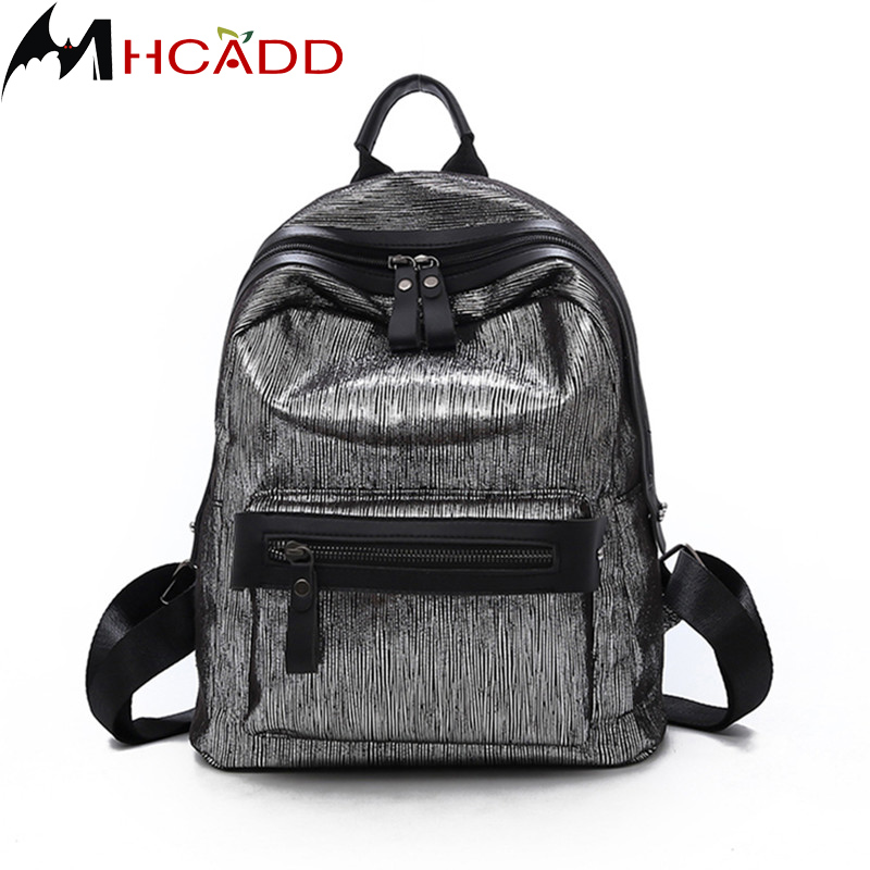 MHCADD Fashion Women Leather Backpack Female High Quality Backpacks Ladies Shoulder Bag Young Girl School Bags Bao Back Pack
