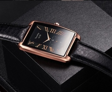 smart watch Vintage Leather Watchband smartwatch for Samsung S4/Note4/Note5 HTC xiaomi for Android Phone LFab