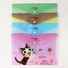 BP 1 PC Cute Cartoon Cheese Cat PVC A4 Filing Products File Folder Storage Stationery School Office Supplies WJ-XXWJ29/