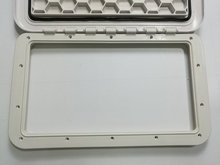 Boat RV Heavy Duty Hinged Access Inspection Deck Hatch White L 23.4 inch W14.3 inch 0684