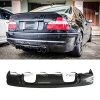 CSL Стиль стайлинга автомобилей углеродного волокна задний спойлер бампер диффузор для BMW E46 M3