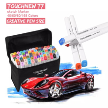 168 Colors TouchNEW T7 Sketch Art Markers Pen Brush Set Dual Headed Oily Alcohol Manga Animation Drawing Painting Art Supplies art markers set dual headed sketch alcohol drawing pens markers animation manga art supplies