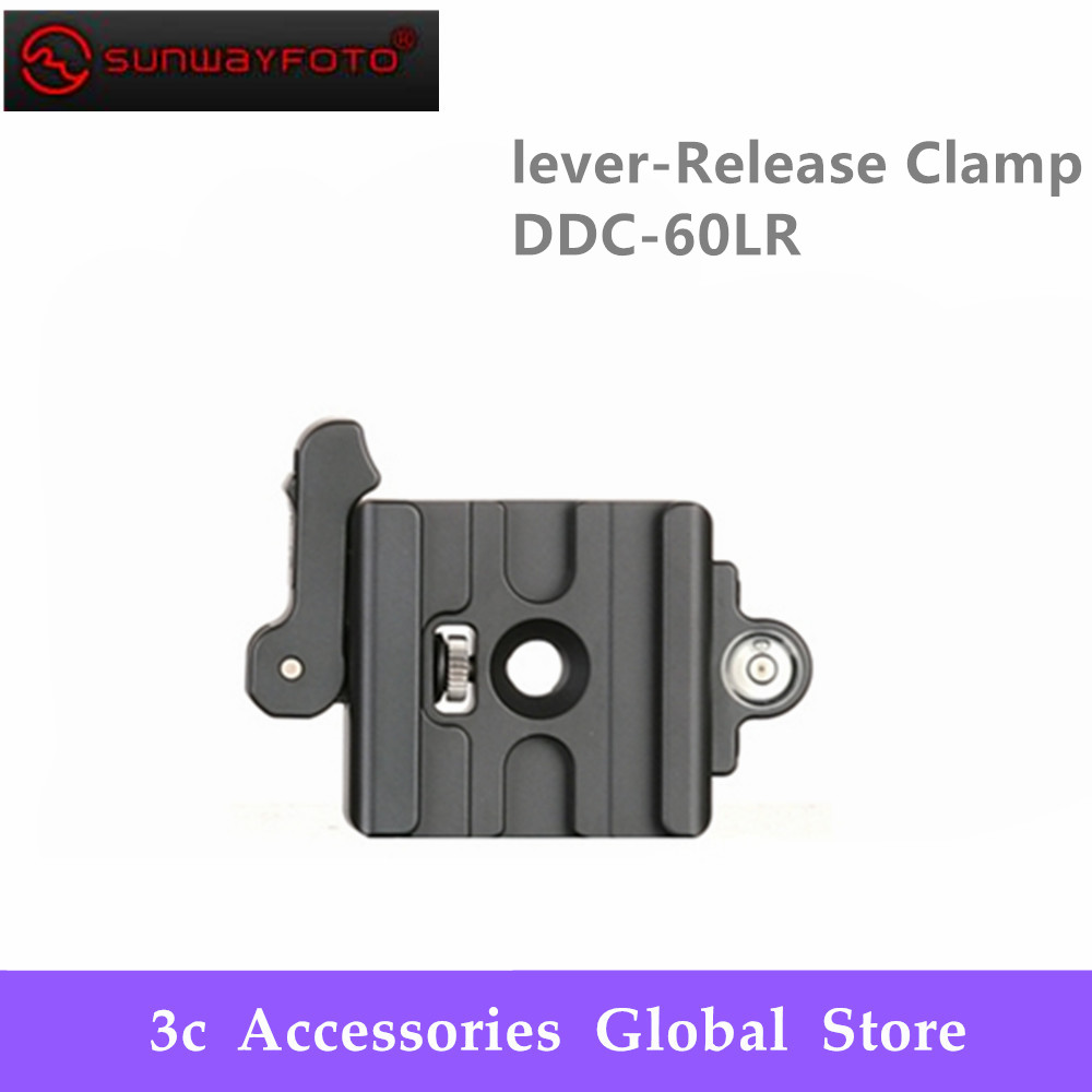 SUNWAYFOTO Lever Release Clamp DDC 60LR Tripod Head Quick Release Clamp For DSLR Tripode Quick Release