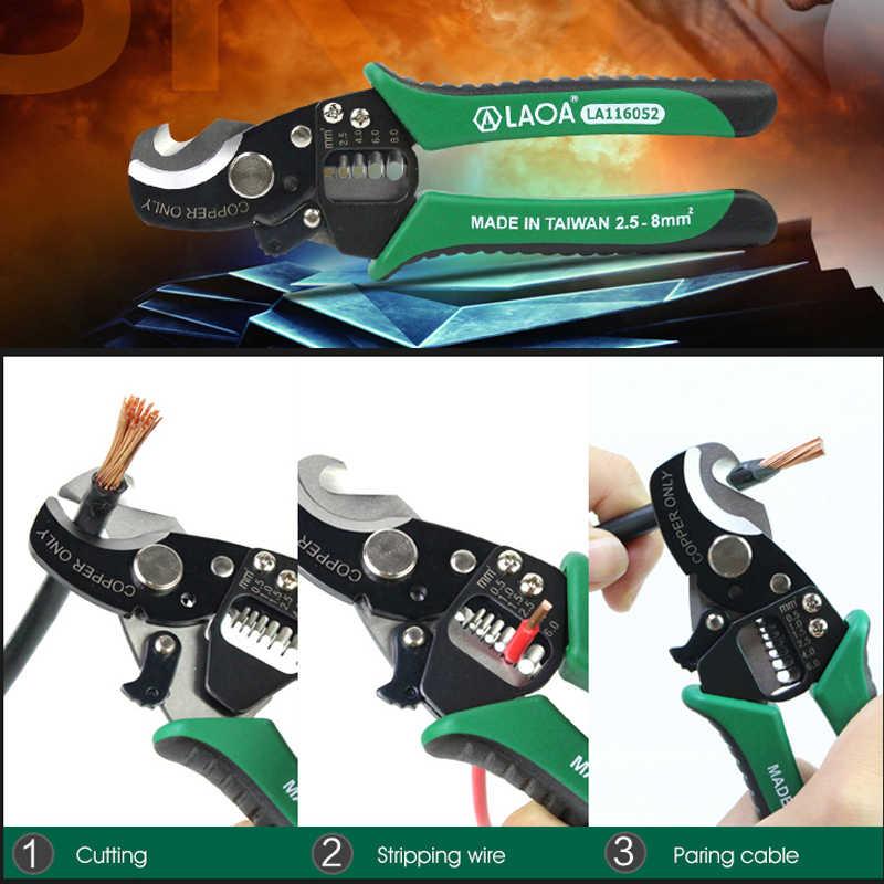 Taiwan Laoa SK5 Materiaal 3 In 1 Multifunctionele Kabel Wire Stripper Cutter Elektricien Tang Paring Draden