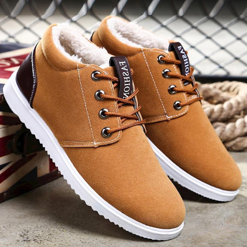 Classic Fashion Boots Men Winter Ankle Shoes 2019 Old Style Plush Boots Warm Shoes Man Waterproof Winter Boots