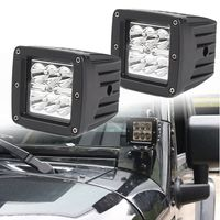 Extremely Water Resisitant 2pcs 3inch 12V 24V 18W Off Road Flood Square LED Work Light Lamp