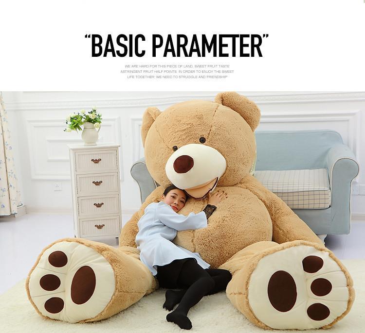 2016 teddy bear plush light brown giant giant birthday gift birthday