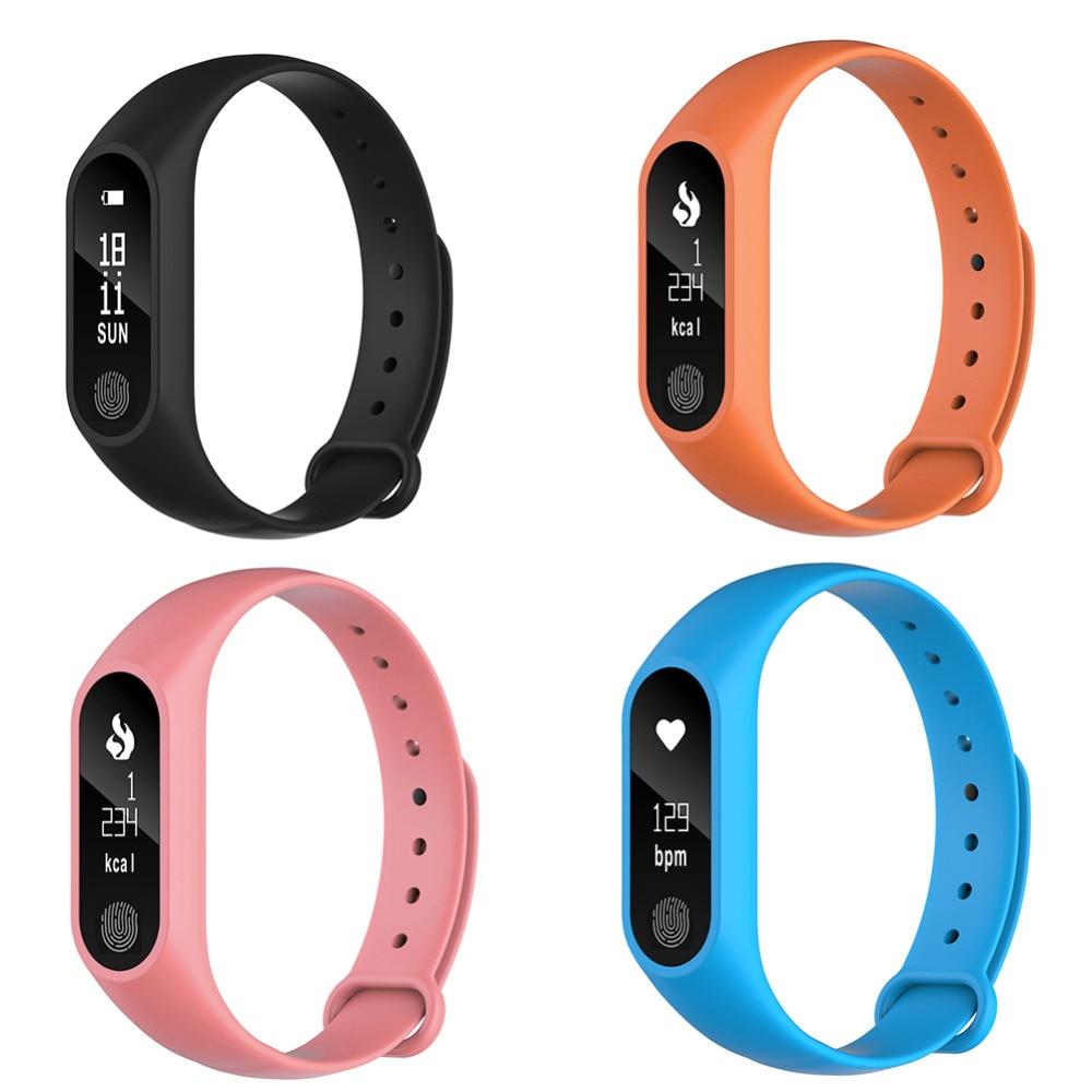 1 pcs M2 Intelligent Bracelet de Remise En Forme Bracelet Moniteur de Fréquence Cardiaque Podomètre Électronique Intelligente Bracelets pour iOS Android pour Homme Femme