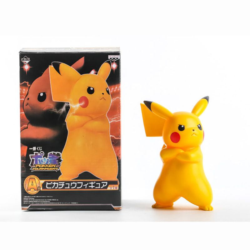 Angry Pikachu  Action Figures,20CM Figure Collectible Toys,Collectible Brinquedos Kids Model Model Collection Gift For Kid brand new animals action figure toys mother wild horse 12cm length pvc figure model toy for gift collection kids school study