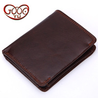 New leather men's wallet vertical paragraph simple leisure wallet first layer of leather ultra thin design purse