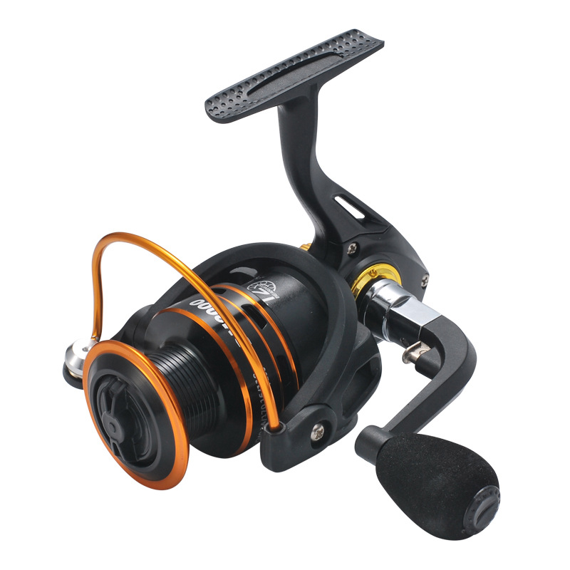 <font><b>DM1000</b></font>-DM6000 Spinning Fishing Reel 5.2:1/12BB Saltwater Light Line Cup Spinning Reel CNC Rotary Handle Graphite Body Stream image