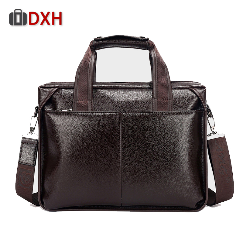 Luxury Brand DXH Shoulder Messenger Bag Men Handbag New Arrival 2019 Men,s Leather Black brown Bags Fashion Channels handbags