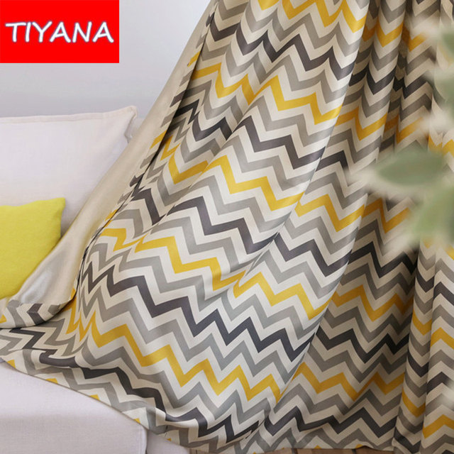 moderno nuovo stile finito giallo increspature tende per soggiorno ... - Tende Per Soggiorno Immagini 2