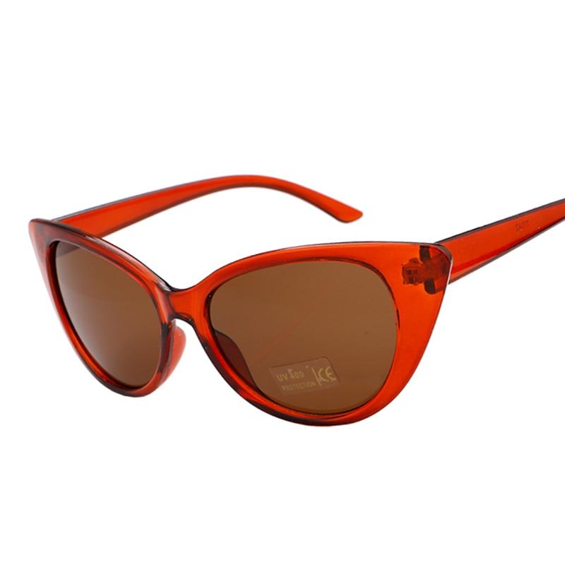 ba14e08ecc42de Mode Vintage Cat Eye lunettes de Soleil Femmes Marque Rétro Sexy UV400  Couleur Cadre Lunettes de Soleil Pour Femmes Gafas De Sol Feminino