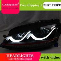 Car Styling VW Golf7 headlights 2013 2015 Volks Wagen Golf 7 led headlight flash turn signal drl H7 hid Bi Xenon Lens low beam