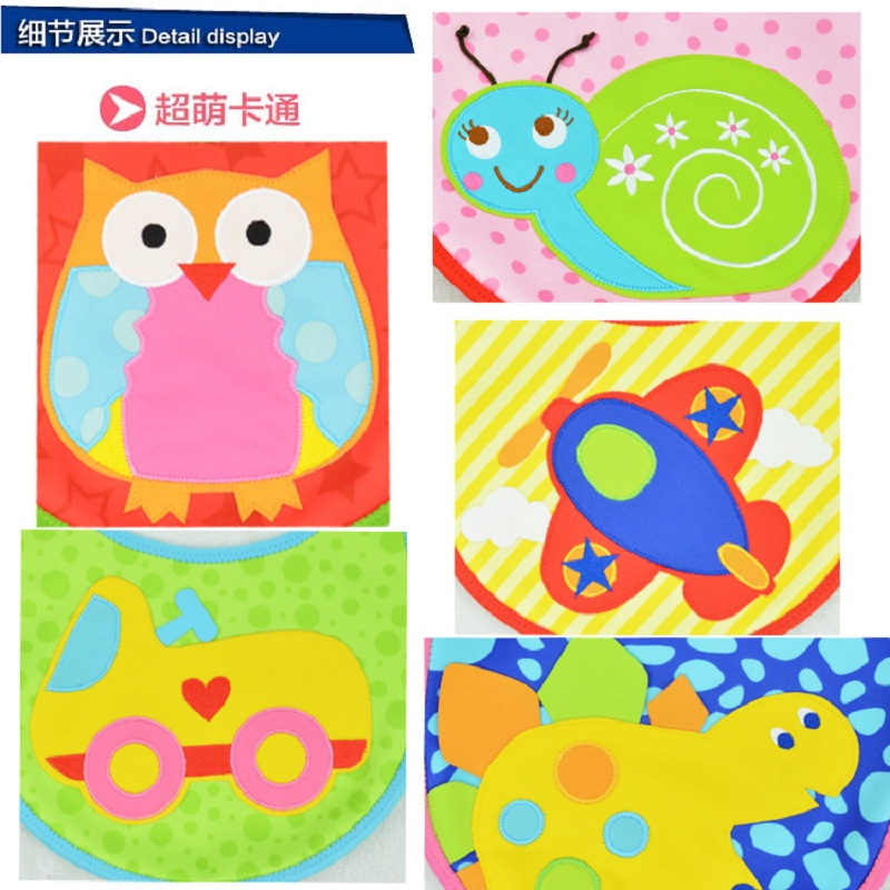 Baby & Kids Cute Cartoon EVA Bibs Waterproof Bandana Silicone Children Baby Bibs Boys Girls Infants Burp Clothes Feeding Care