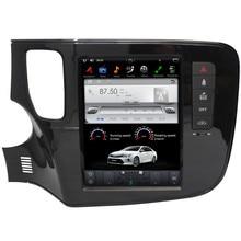 """10,"""" Tesla стиль Android 7,1 Автомобильный плеер gps навигация для Mitsubishi Outlander- с радио BT USB Видео Стерео"""