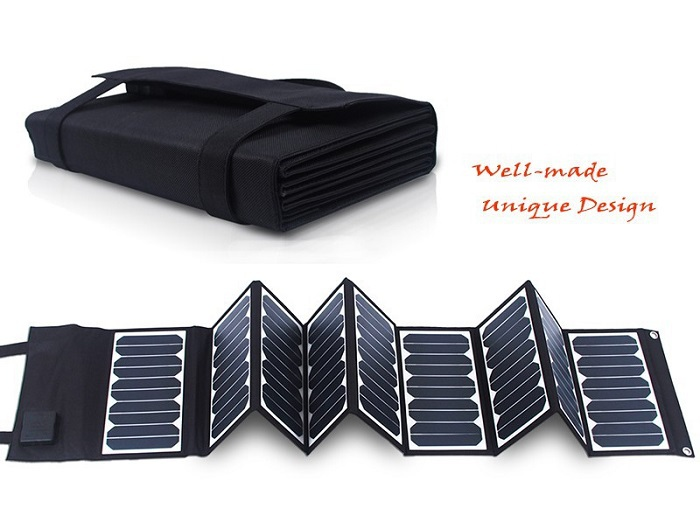 60W 5V/18V folding Solar Panel Charger For Mobile Phones/Power Bank / Laptops /12V Battery Charger New Sunpower Free Shipping