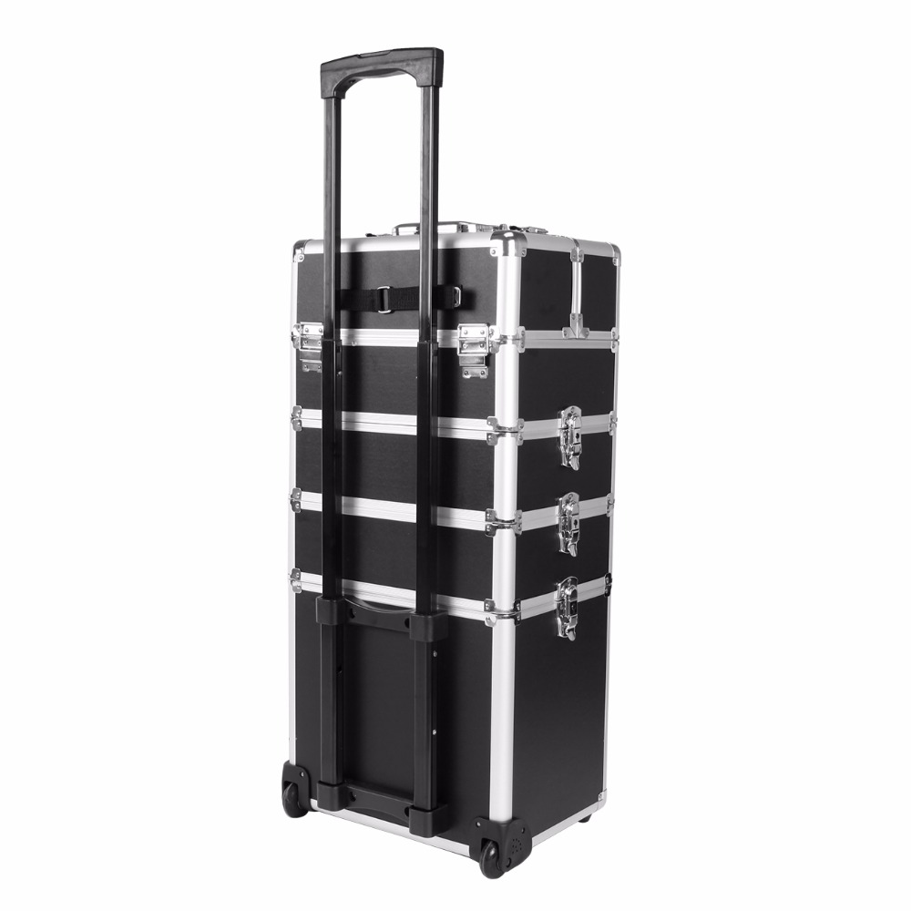 Ship from UK! 5 in 1 Trolley Hairdressing Makeup Beauty Nail Case Art Box Cosmetics Suitcase With Wheels ship from uk 10x20 seedling heat mat for cloning propagation starting