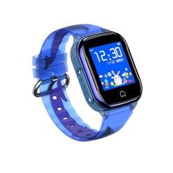 K21 inteligentny zegarek dla dzieci IP67 wodoodporny zegarek na telefon LBS SOS z zegarem GPS z kartą SIM na zegarek na rękę IOS Android w Inteligentne zegarki od Elektronika użytkowa na