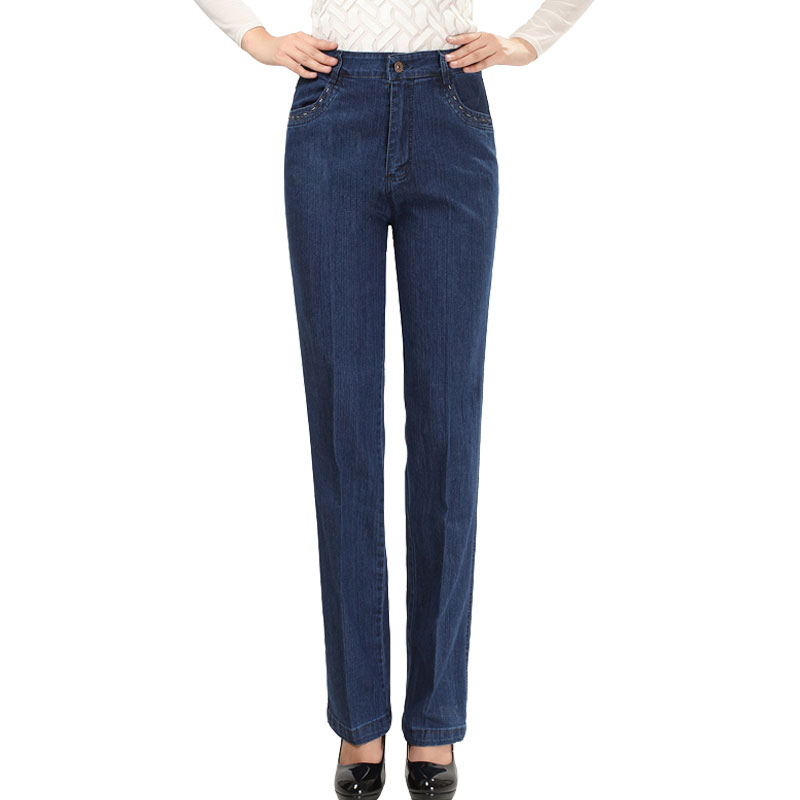 2017 Spring Style Warm Straight Women Jeans With Pockets High Quality Loose Jeans Women Branding Clothes