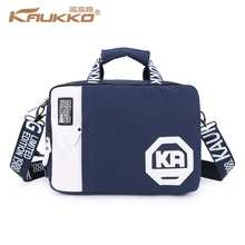 Kaukko multifunction man  woman canvas computer bag school bag single  double shoulders messenger carring