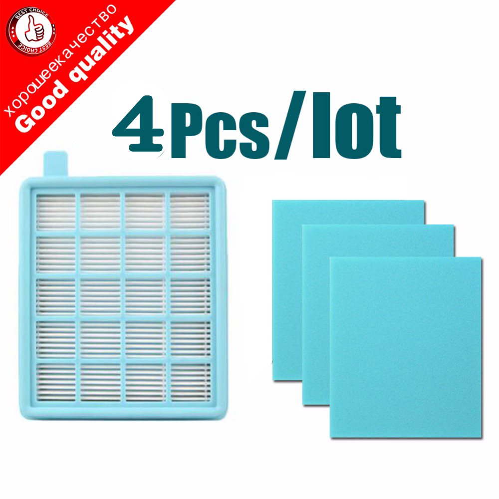 4pcs/lot Filter Mesh HEPA FILTER BUFFALO-MISTRAL For Philips Vacuum Cleaner FC8630 FC8631 FC8632 FC8633 FC8634 FC8635 FC8645
