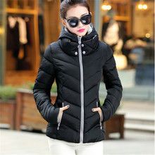 2017 New Fashion Down Parkas Warm Winter Coat Women Light Thick Winter Plus Size Hooded Jacket