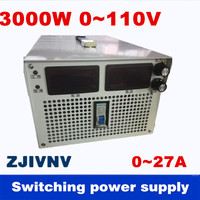 3000W 0 110v 0 27A Output current&voltage both adjustable Switching power supply AC DC For industry, led light, Laboratory test
