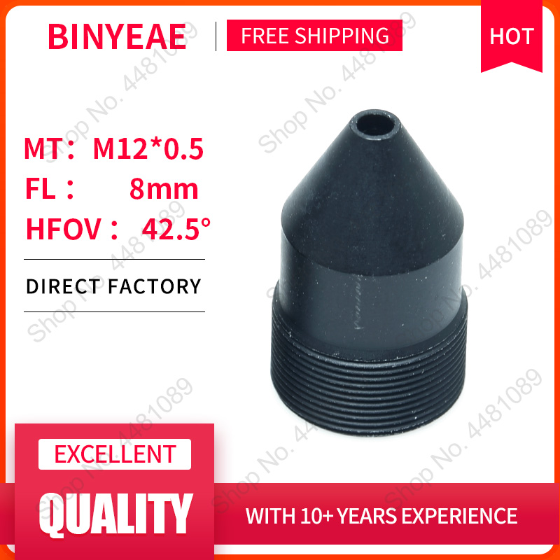 BINYEAE 3Megapixel HD 8mm Lens Board Lens For CCTV Security Camera IP Camera 8MM M12*0.5 Mount Long Viewing Distance