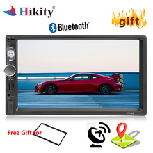 Hikity Universal Car Multimedia Player GPS Navigation Autoradio 2din Auto Stereo 7″ MP5 Player Bluetooth FM USB Rear View Camera