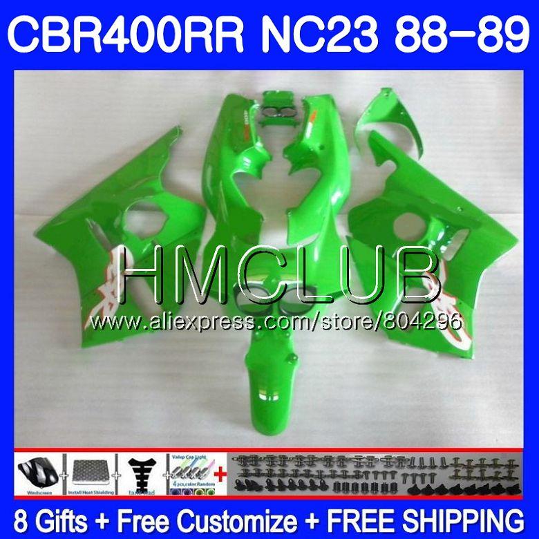 NC23 vert Brillant Pour HONDA CBR 400RR 400 RR CBR400 RR 88 89 90 91 92 93 89HM. 3 CBR400RR 1988 1989 1990 1991 1992 1993 Carénages