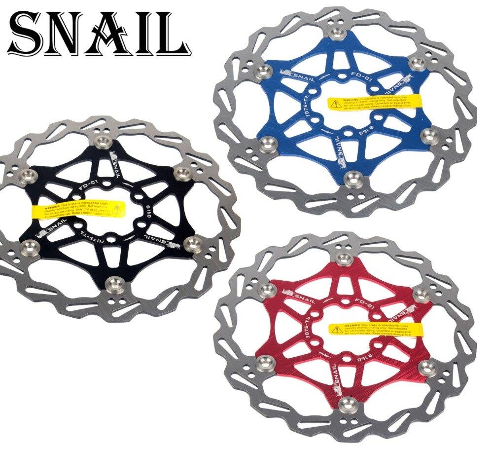 Disc Floating Rotor 160//180//203mm For SNAIL MTB Mountain Bike Bicycle Brake
