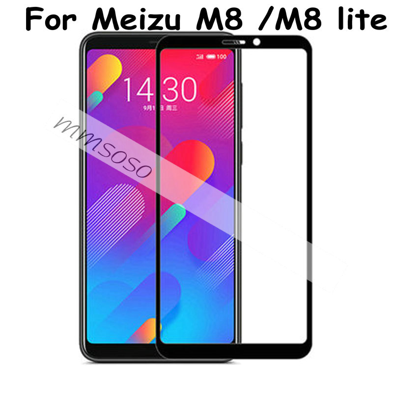 3D Meizu M8 Tempered Glass Meizu M8 Lite Full Cover 9H Protective Film Explosion-proof Screen Protector On Meizu M8 M8 Lite