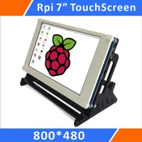 Raspberry Pi 7 Inch 800x480 Pixel IPS Hdmi Input Capacitive TouchScreen Display Lcd with Case