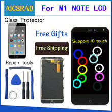 "AICSRAD For Meizu M1 Note touch screen Digitizer +LCD Display For Meizu M1 Note 5.5"" Cellphone Black Color"