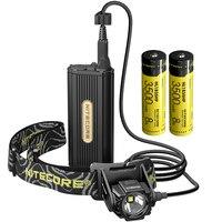 Venta Envío Gratis Topsale Nitecore HC70 1000 lúmenes USB recargable faro 2x18650 batería externa Paquete de luces
