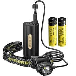 Freies Verschiffen Topsale Nitecore HC70 1000 Lumen USB Aufladbare Scheinwerfer + 2x18650 Externe Batterie Pack Wasserdichte Hohe Lichter