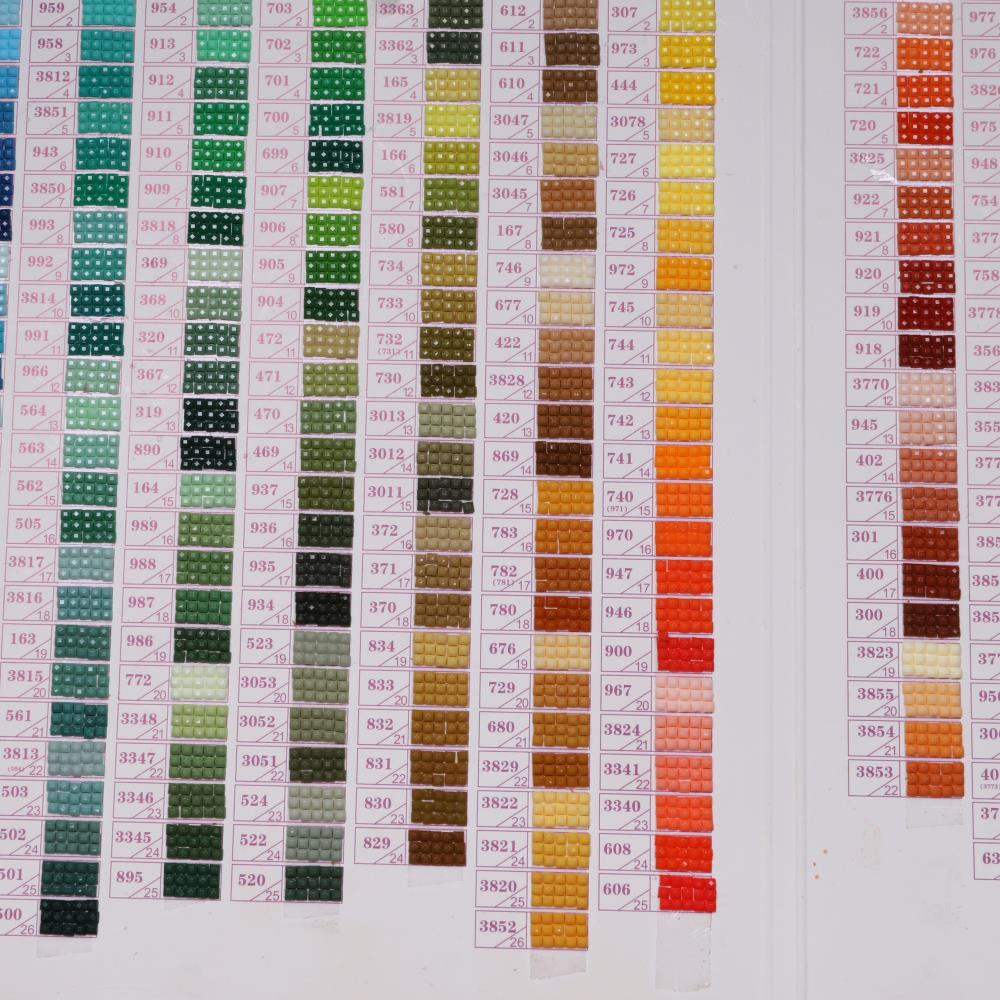 ZOOYA 5d pintura diamante acessórios de diamante bordado de strass DMC cartela de cores Completa Rodada de mosaico/Brocas quadrados B008