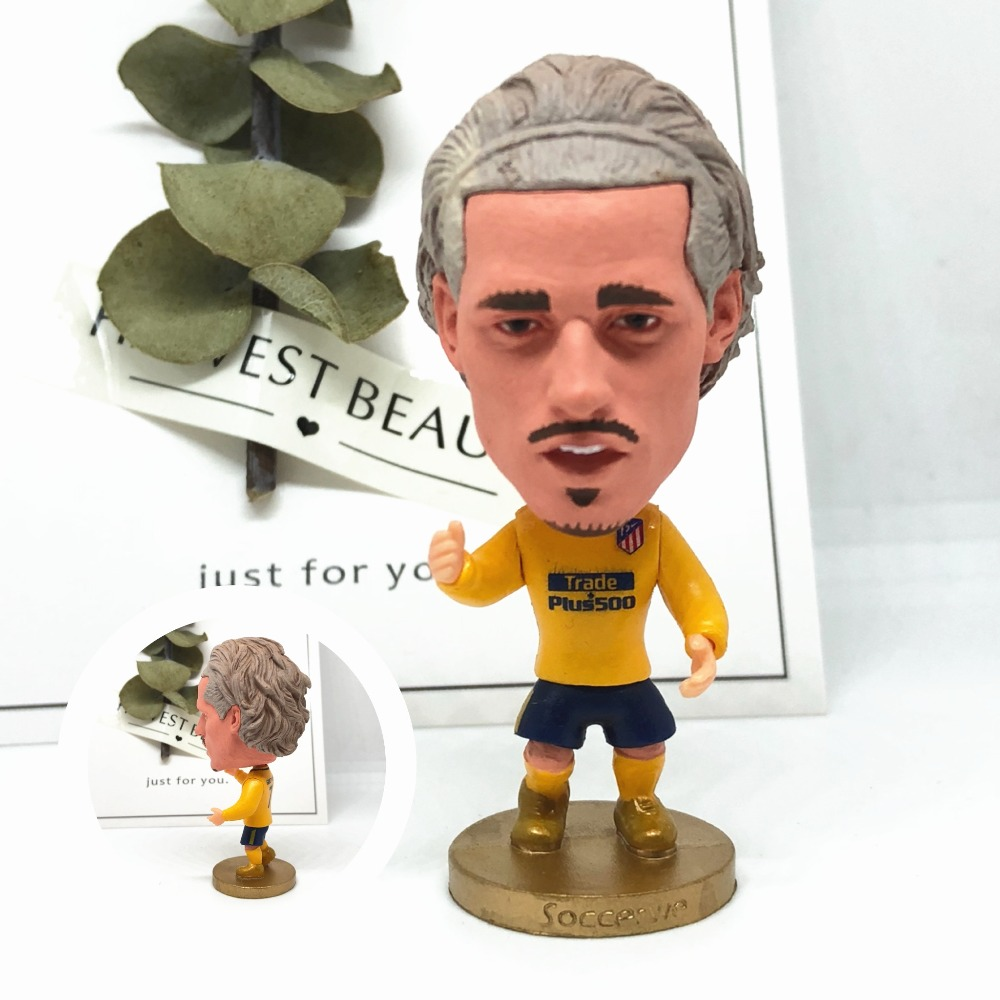 Soccerwe font b dolls b font figurine Sports stars Griezmann 7 2018 Movable joints resin model