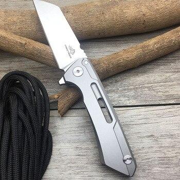 FREETIGER FT601 Mechanical Warrior Folding Pocket Knife D2 Blade CNC Steel Ball Bearing Hunting Camping Small EDC Pocket Knife 2