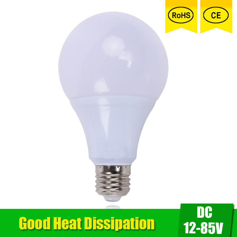 LED Bulbs DC 12V 24V 36V 48V E27 3W 5W 9W 12W 15W LED Lamp <font><b>6000K</b></font> <font><b>SMD</b></font> <font><b>2835</b></font> Home Camping Hunting Emergency Outdoor Light lamparas image