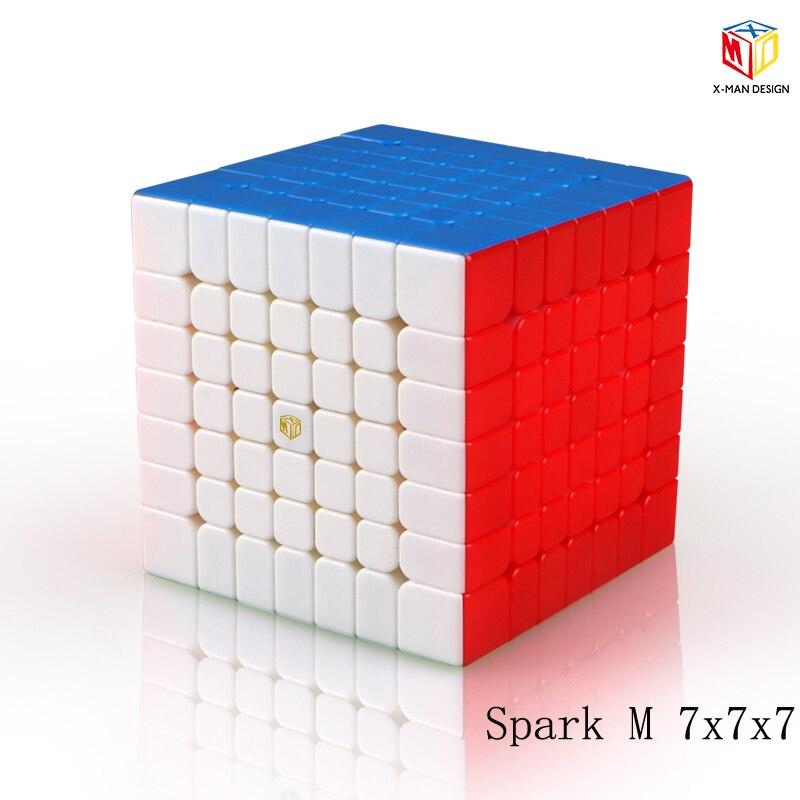 Plus récent Qiyi x-man conception étincelle et étincelle M 7X7x7 Cube magnétique professionnel Mofangge 7x7 magique vitesse Cube torsion jouets éducatifs - 2