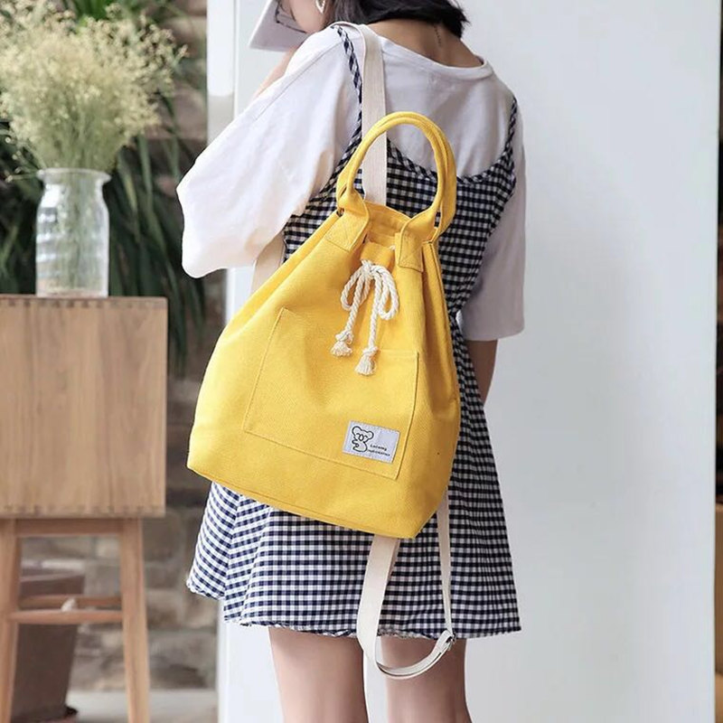 New Fashion Ladies Backpack Waterproof Canvas Travel Backpack Female Student Bag Youth Girl Bag Backpack 2019