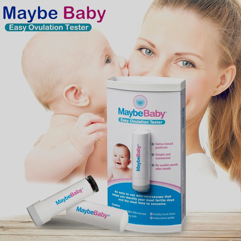 99.9%Accuracy MaybeBaby Easy Re-Usable 10000Times Saliva Ovulation Tester to Identify most fertile days & ideal time to conceive