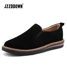 Skóra zamszowa damskie buty typu oxford wiosna panie mieszkania trampki mokasyny obuwie Casual jesień buty łodzi 2018 mokasyny Plus rozmiar