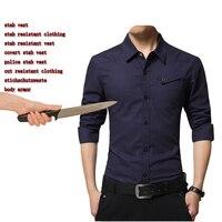 Самообороны тактический спецназ полиции передач анти вырезать нож порезостойкая рубашка анти Stab доказательство с длинными рукавами военн