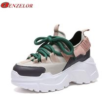 cbb1750f9 BENZELOR 2018 primavera Otoño de suela gruesa casuales de plataforma de las mujeres  zapatos de mujer Zapatos Zapatillas de depor.