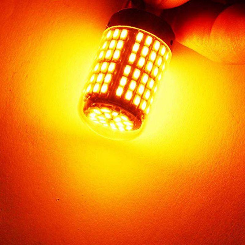 2 шт. T20 7440 W21W 1156 BA15S P21W BAU15 PY21W Автомобильный светодиодный свет сигнальная Поворотная лампа свет задний Реверс лампы задний стоп-сигнал лампы - Испускаемый цвет: BAU15 Yellow