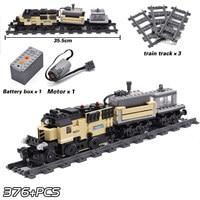 2019 New KAZI City Train Technic Electric with Rail Building Blocks Bricks Technician Tech Creator MOC Toys For Children